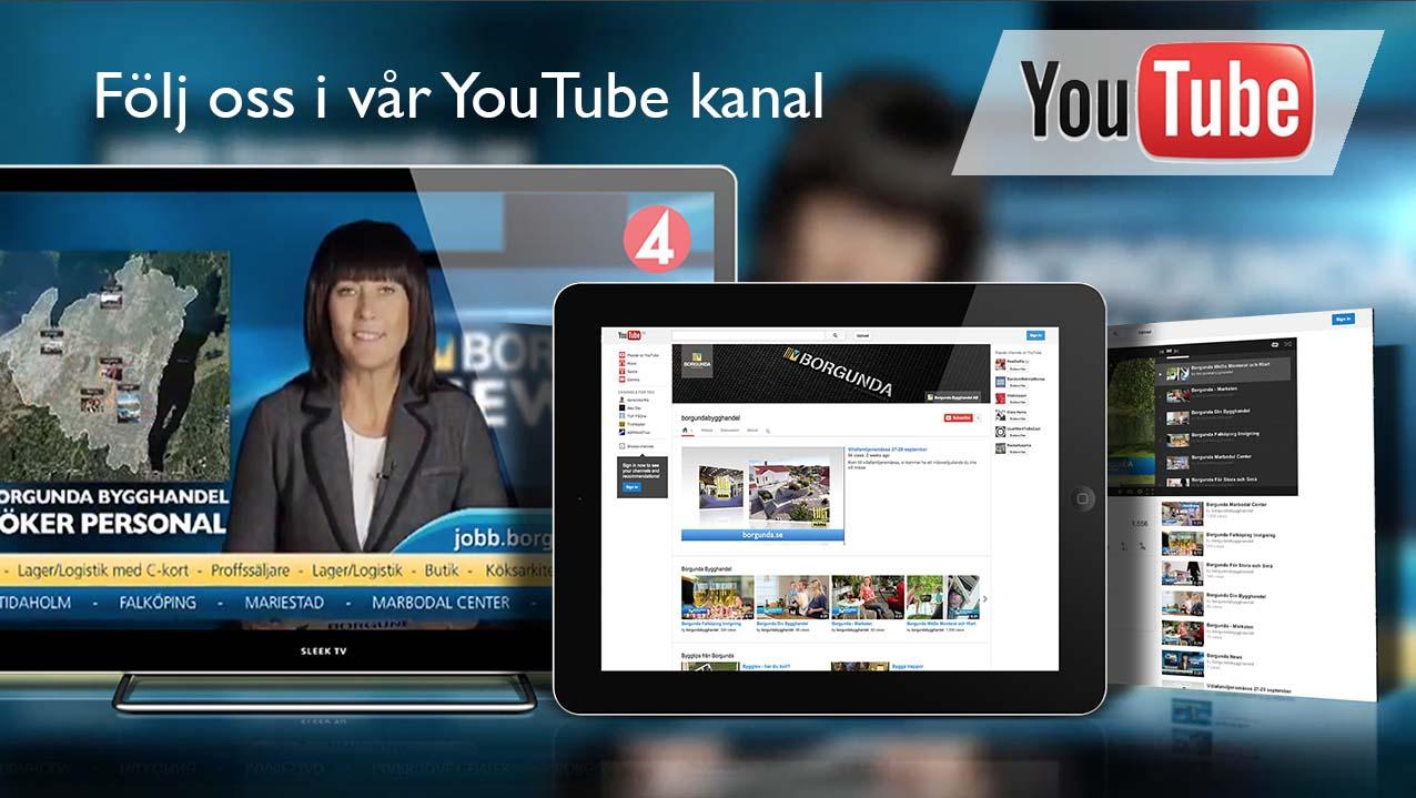 Följ Borgunda på YouTube