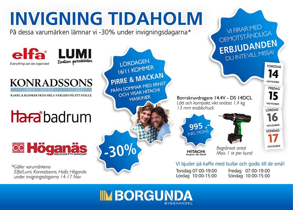 Nu är det dags för Nyinvigning av butiken i Tidaholm!