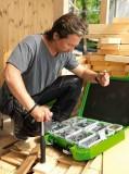 Essbox och träskruv