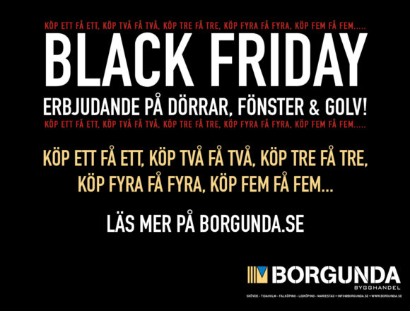 Black Friday hos Borgunda