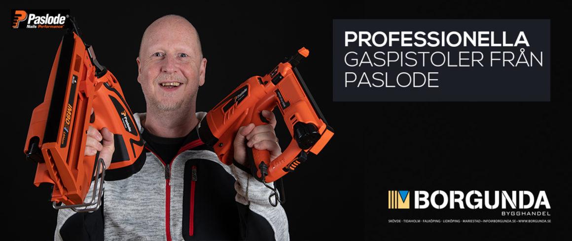 Professionella gaspistoler från Paslode
