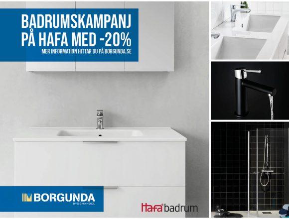 Badrumskampanj -20% på Hafa