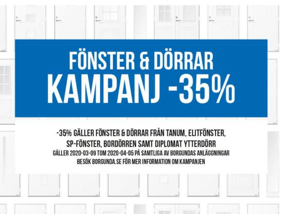 Fönster och Dörrkampanj -35%