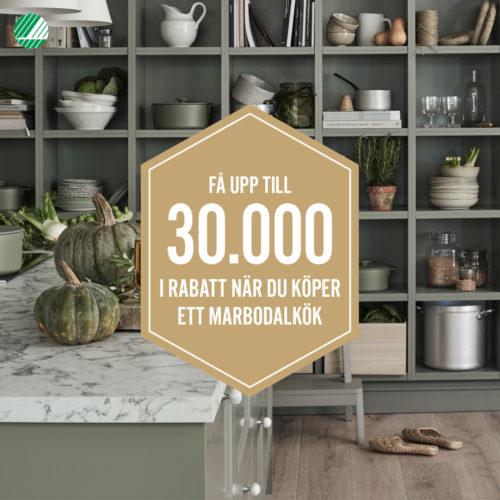 Kökskampanj på Marbodal kök – få upp till 30 000 kr i rabatt