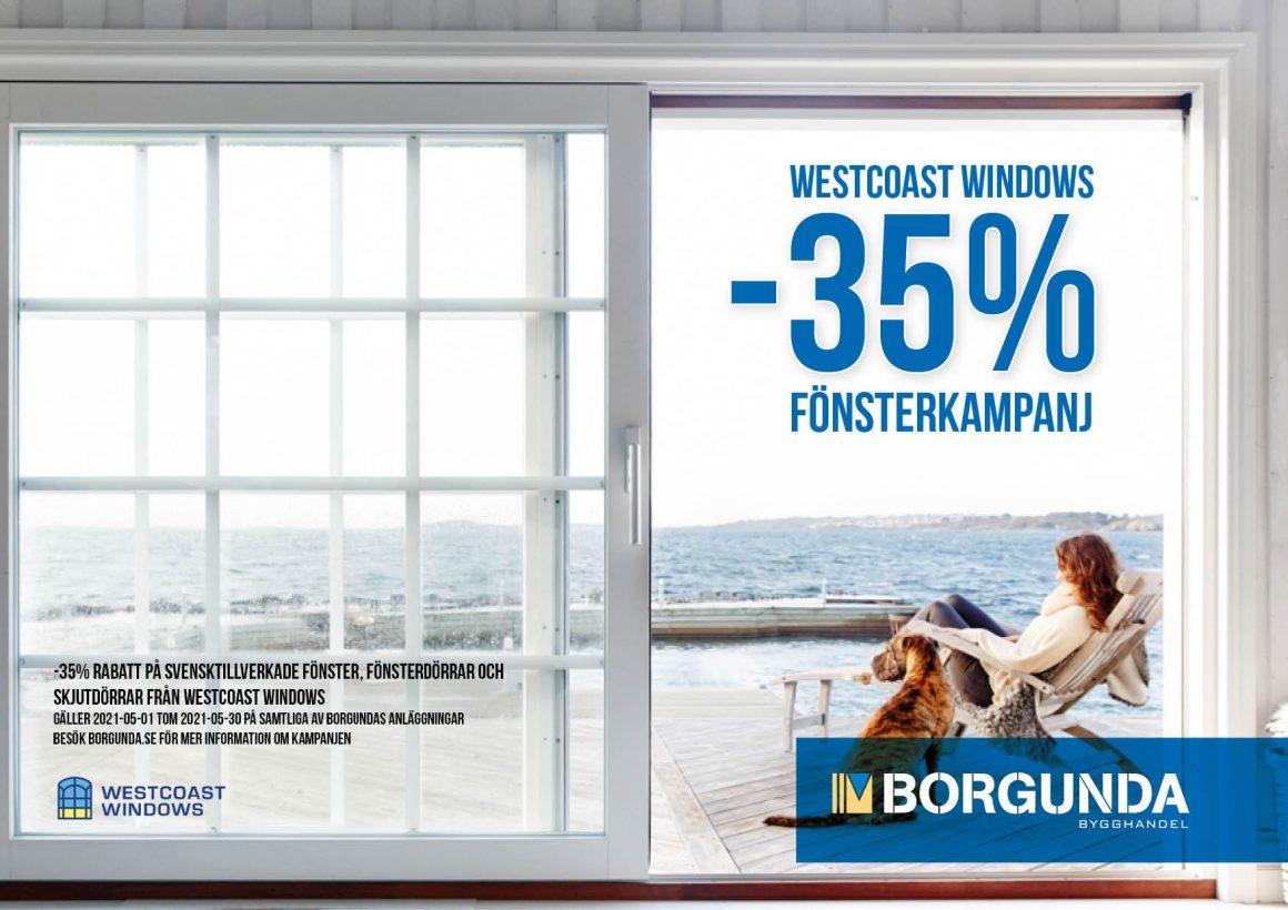 Fönsterkampanj Westcoast Windows